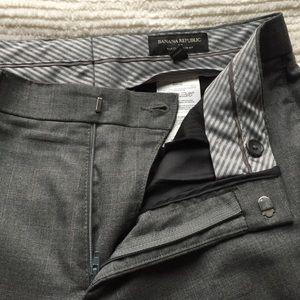 Gray Men's Banana Republic Dress Pants